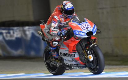 Dovizioso più veloce nel venerdì di Motegi. Lorenzo out