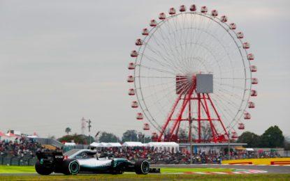 Giappone: Hamilton di un altro pianeta nelle libere, Vettel 3°
