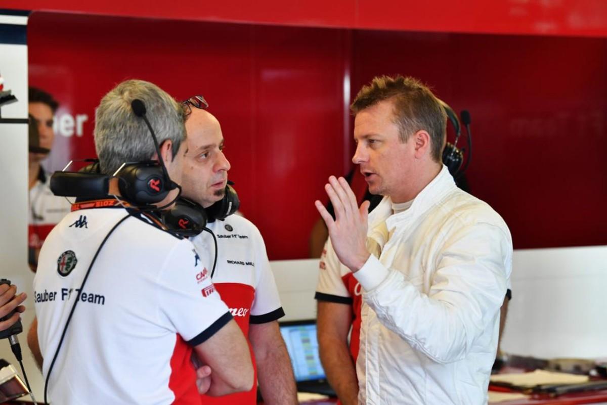 Primo giorno di Raikkonen in pista con l'Alfa-Sauber