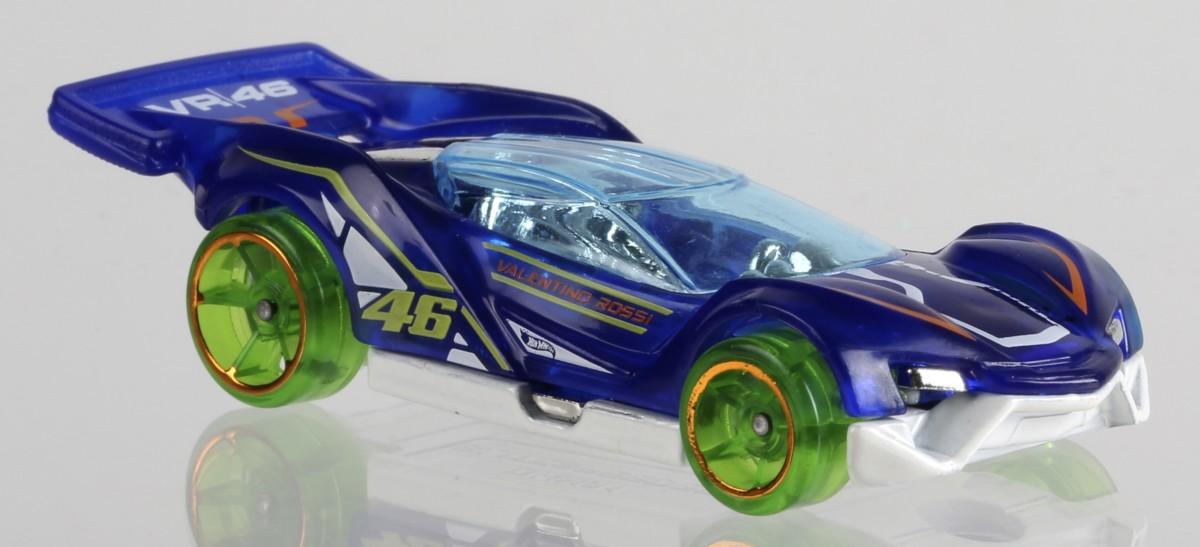 Hot Wheels in giallo e blu per Valentino Rossi