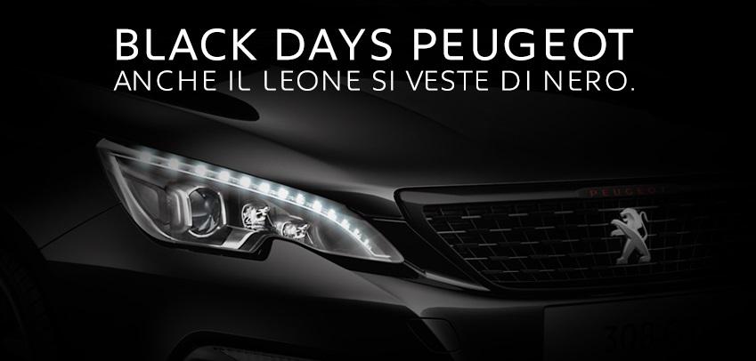 Black Days Peugeot: il Leone si veste di nero