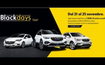 Regalarsi un'auto per Natale con Black Days Opel