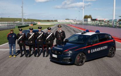 Carabinieri a scuola da Andreucci con la 308 GTi by Peugeot Sport