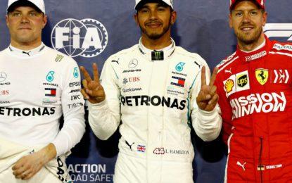 Abu Dhabi: prima fila record per la Mercedes, davanti alle Ferrari