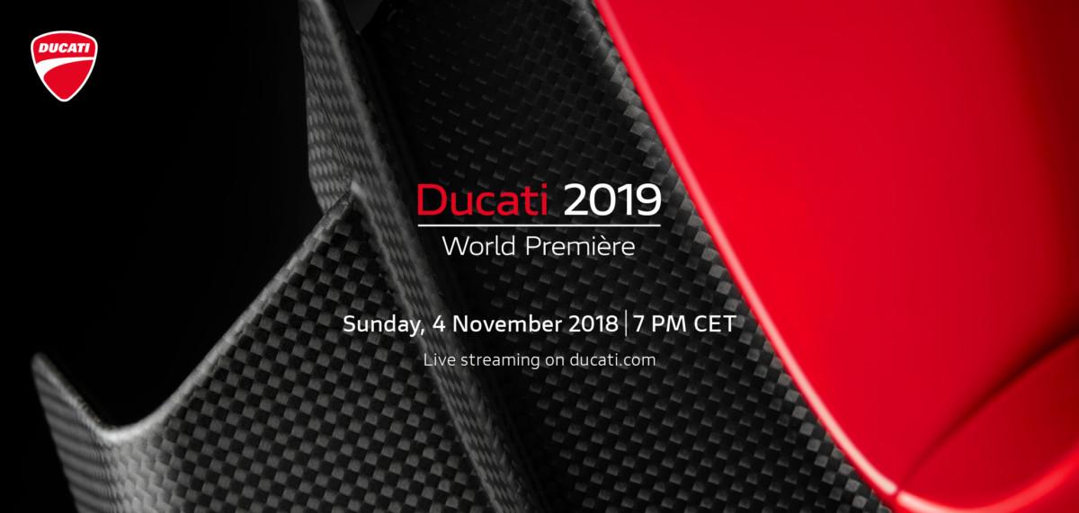 Domenica Ducati World Première 2019 in live streaming