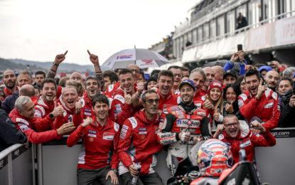 Una domenica speciale per il Ducati Team a Valencia