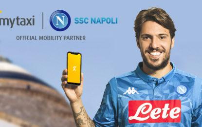 Il Calcio Napoli dà il benvenuto a mytaxi