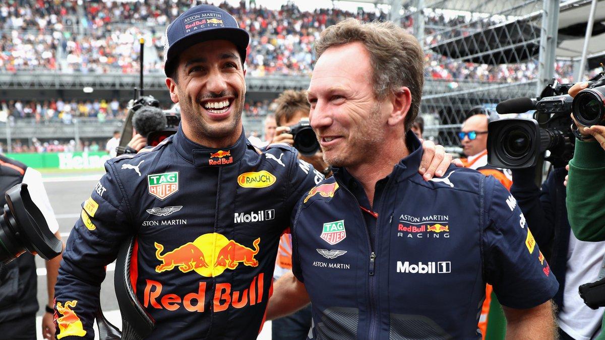 """Horner: """"Ricciardo finirà la stagione in Red Bull"""""""