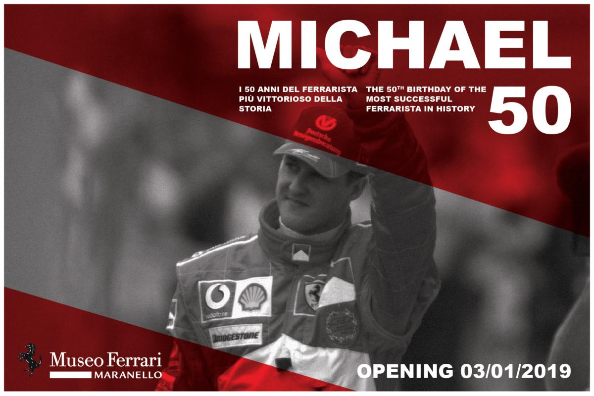 'Michael 50': dal 3 gennaio una mostra al Museo Ferrari
