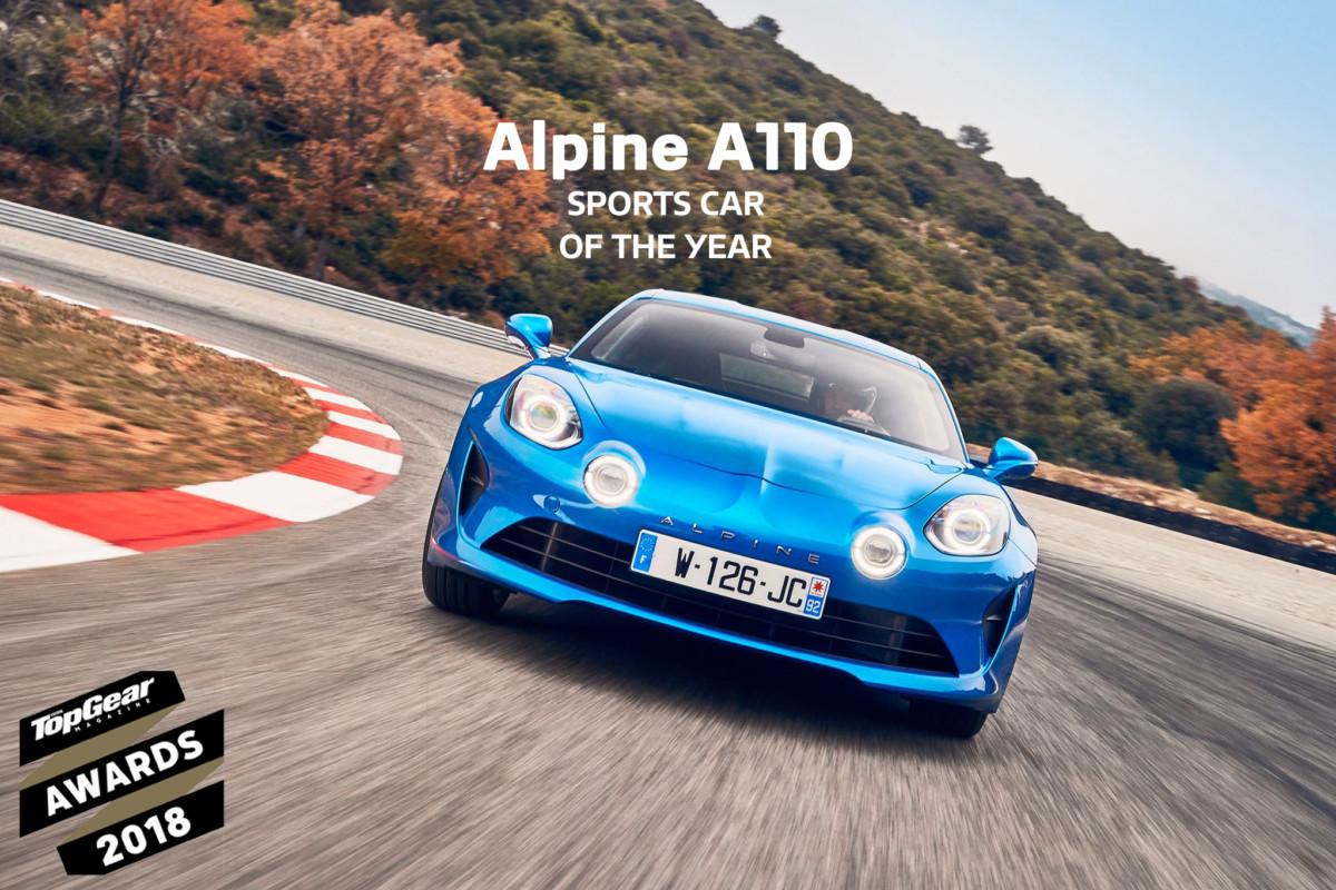 Alpine A110 Sportiva dell'Anno secondo BBC Top Gear
