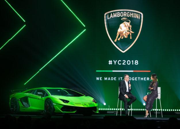 Lamborghini festeggia il 2018 con Fedez
