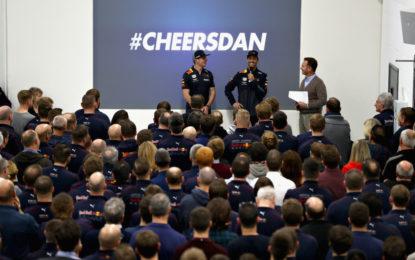 La grande festa Red Bull per salutare Daniel Ricciardo