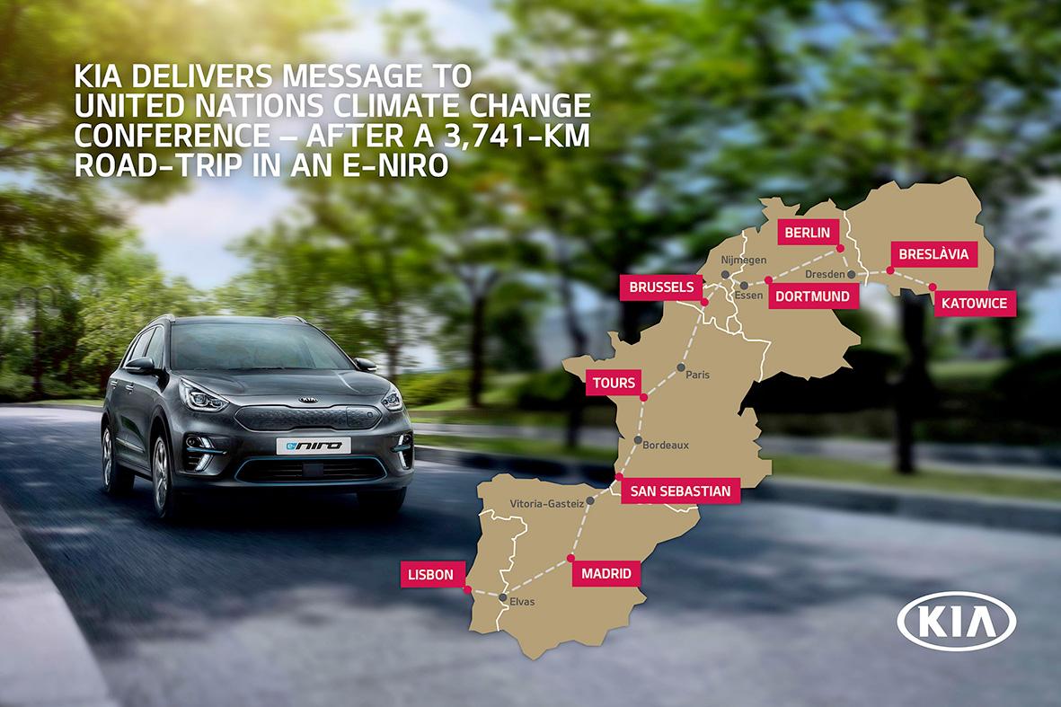 Kia e-Niro: 3.741 km per portare un messaggio alla COP24