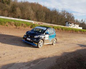 smart EQ fortwo e-cup nel Campionato Italiano Rallycross 2019