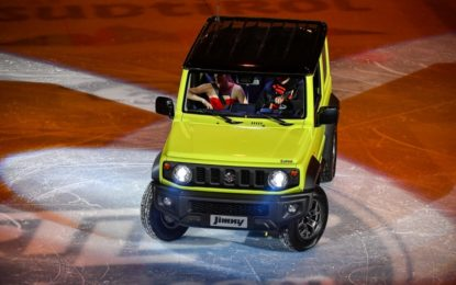 JIMNY e Carolina Kostner stelle del Suzuki Bolzano Passion Gala