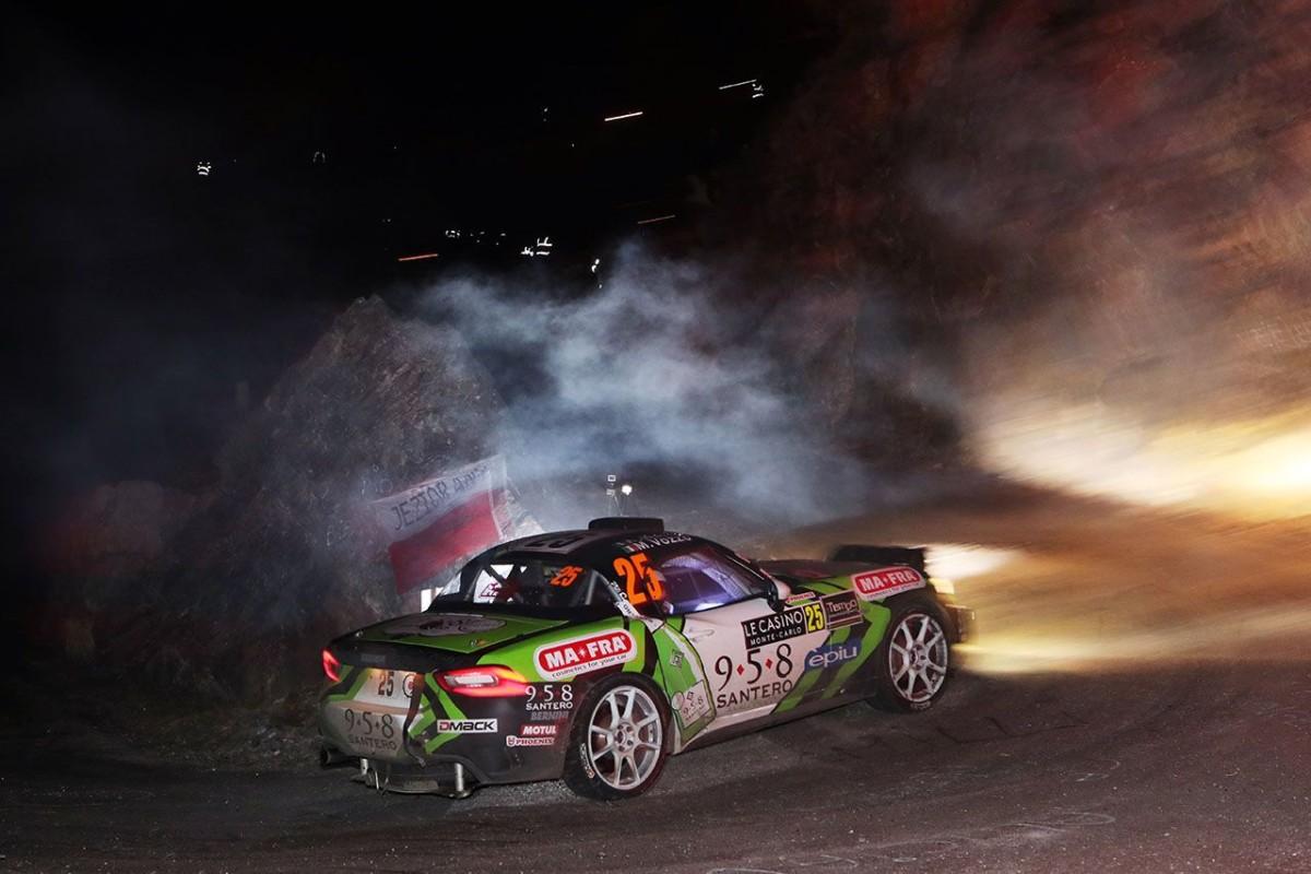L'Abarth 124 rally in azione a Montecarlo