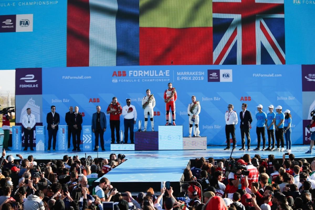 Formula E |  D'Ambrosio |  Frijns e Bird sul podio di Marrakech
