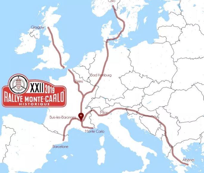 Parte da Milano il 22° Rallye Monte-Carlo Historique