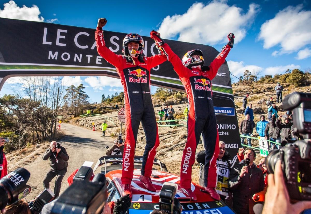WRC: 100° successo Citroën con Ogier e Ingrassia a Montecarlo