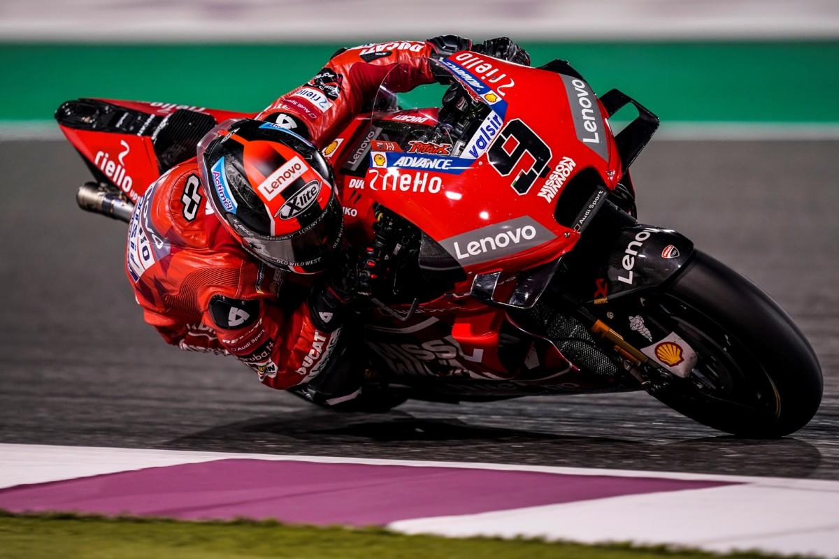 MotoGP: Petrucci 4º e Dovizioso 8º nella seconda giornata di test