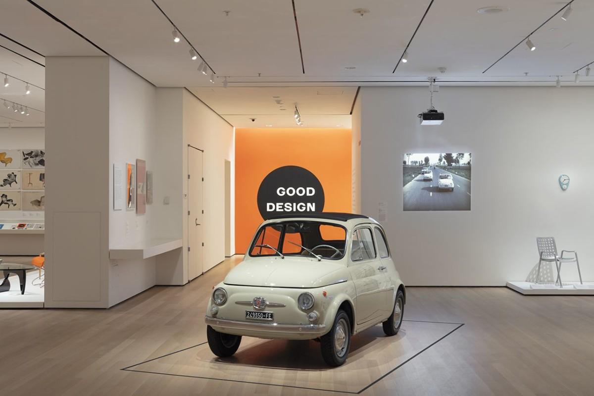 Fiat 500 opera d'arte al MoMA di New York