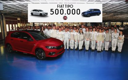 Fiat Tipo a quota 500.000. Porte aperte nel weekend
