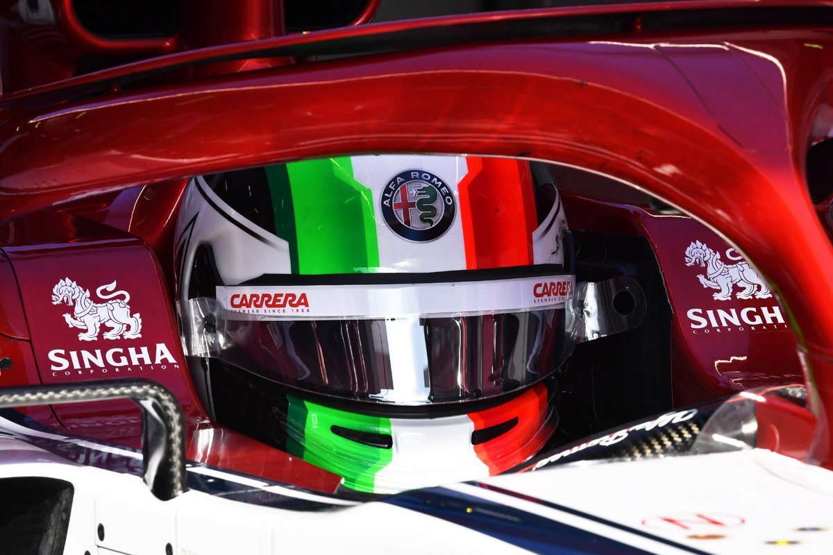Il casco di Giovinazzi? Italians do it better