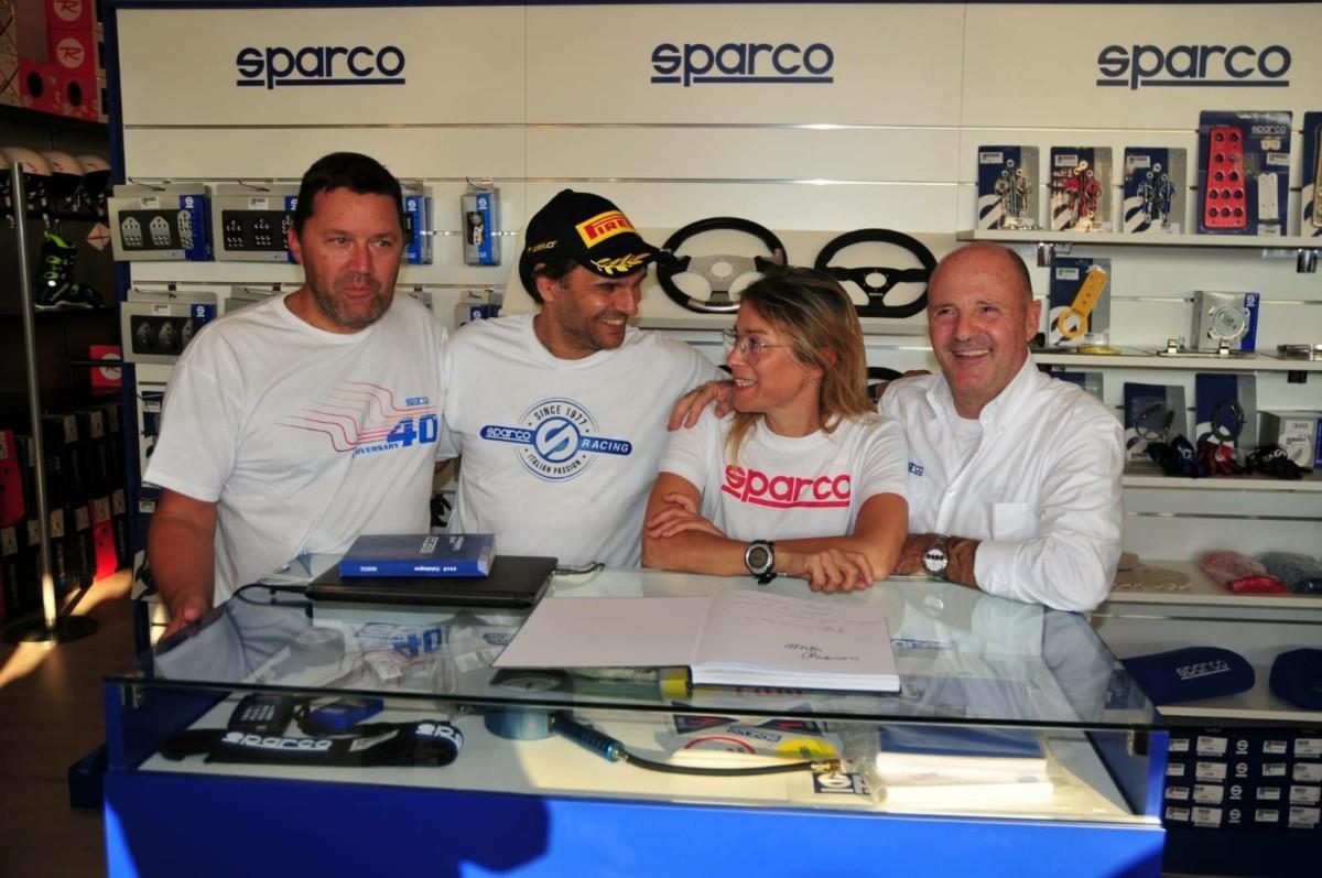 Evento Sparco con i campioni Andreucci e Andreussi
