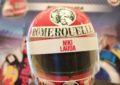 Il casco di Lauda, simbolo della volontà di non mollare
