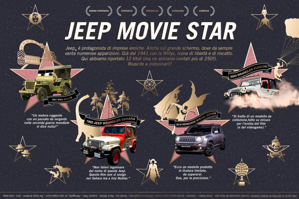 Jeep da sempre star nel mondo del cinema
