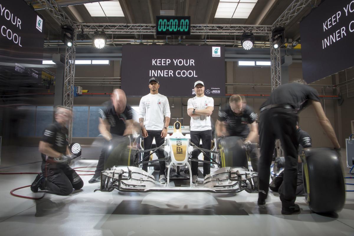 Petronas e i Campioni Mercedes presentano i nuovi lubrifican