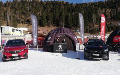 I SUV Peugeot sulla neve al Rossignol X Color Tour