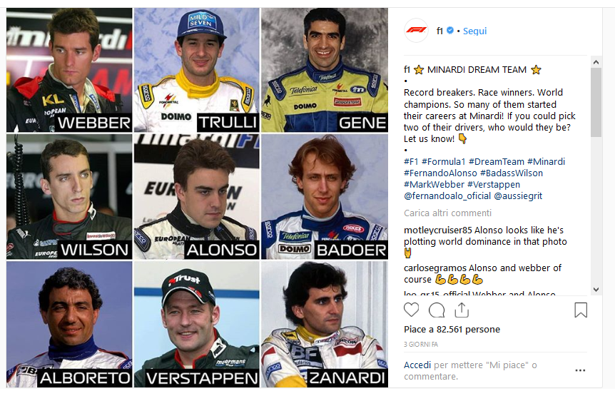 Screenshot_2019-02-10 FORMULA 1® su Instagram ⭐ MINARDI DREAM TEAM