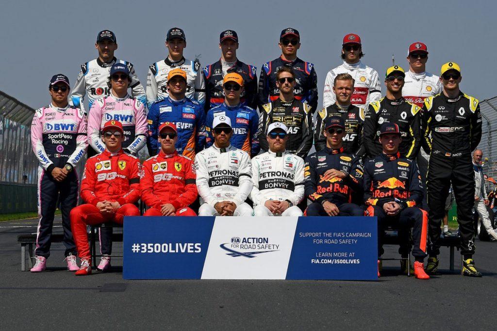 foto di gruppo F1 2019