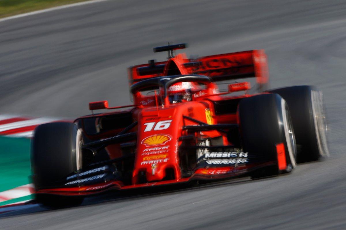 Ferrari e Leclerc 138 giri e miglior tempo nel giovedì al Catalunya