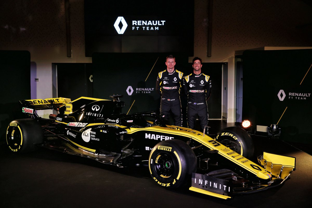 renault f1 team ecco la r s 19 di hulkenberg e ricciardo. Black Bedroom Furniture Sets. Home Design Ideas