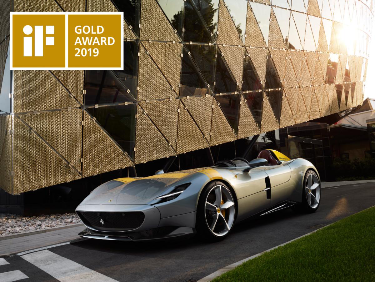 La Ferrari Monza SP1 vince l'iF Gold Award