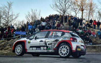 CIR: al Ciocco Citroën C3 R5 sul podio con Rossetti e Mori