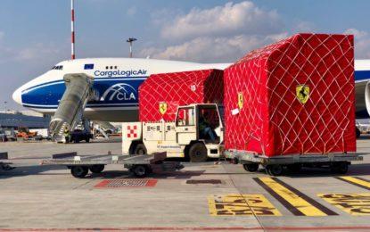 La Ferrari partita dall'aeroporto di Malpensa