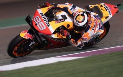 Qatar: nelle libere è subito Marquez. Rossi in difficoltà