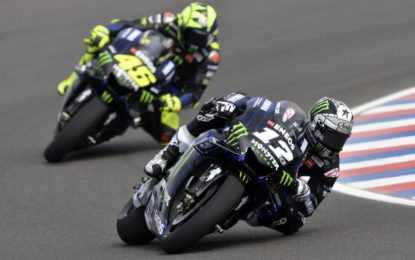 La Yamaha parte bene in Argentina: Vinales 3°, Rossi 6°