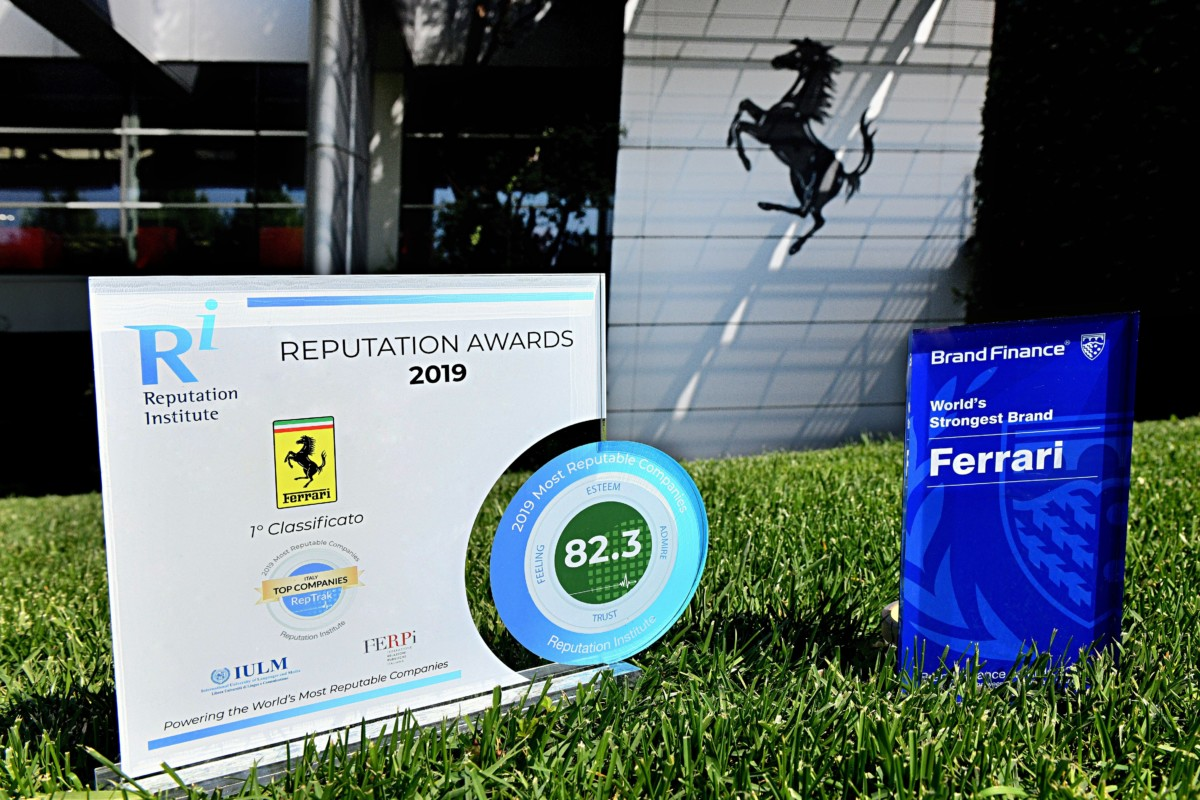 Ferrari azienda con la migliore reputazione in Italia