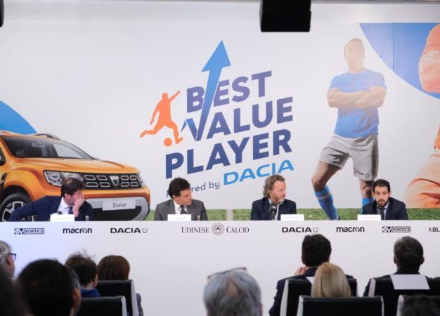 Dacia e Udinese Calcio lanciano Best Value Young Player