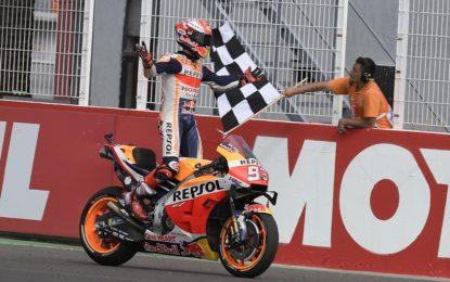 Argentina: dominio Marquez, ma Rossi a podio con Dovizioso