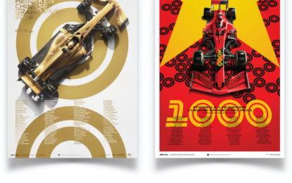Da Automobilist due poster per celebrare il GP di F1 numero 1000