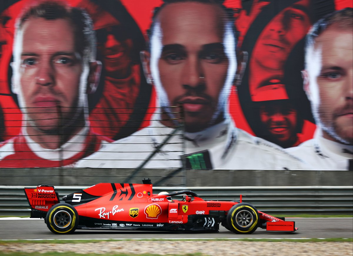 Cina: seconda fila per le Ferrari di Vettel e Leclerc