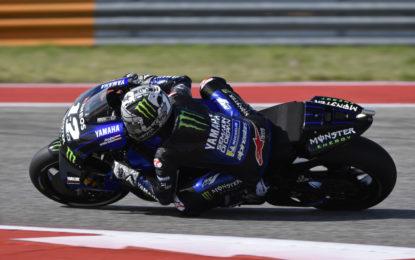 Marquez tra le Yamaha di Viñales e Rossi nel venerdì di Austin