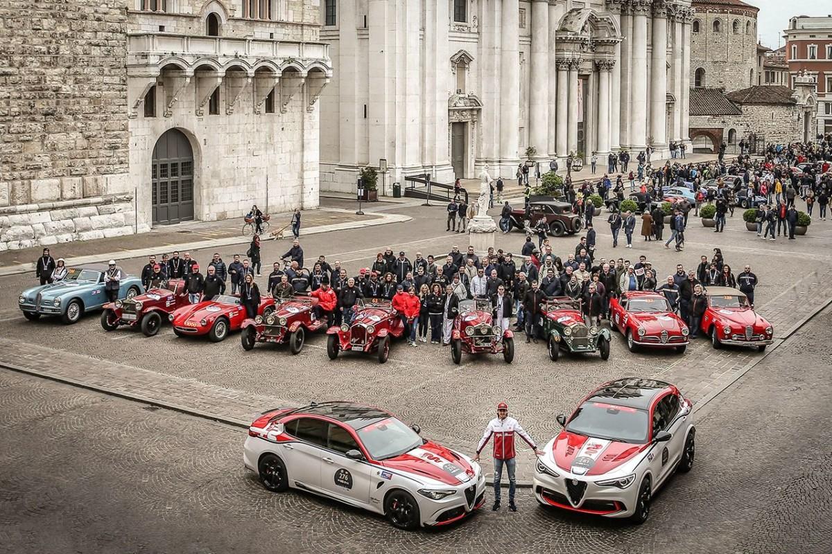 Alfa Romeo alla 1000 Miglia: tanti gioielli, Giovinazzi e una serie speciale