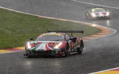 WEC: doppio podio per la Ferrari a Spa, sotto la neve!