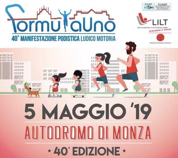 Domenica 5 maggio in Autodromo la 40° marcia Formula 1 LILT